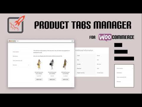 WOOCOMMERCE PRODUCT TABS MANAGER