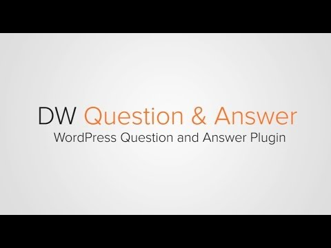WordPress Q&A Plugin - DW Question and Answer
