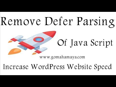 Remove Defer Parsing Of Java Script WordPress