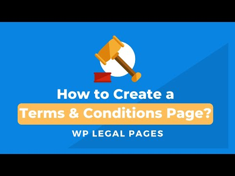 How to create terms & conditions page with WP Legal Pages Pro?
