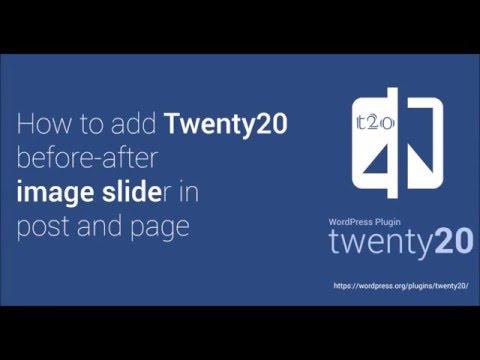 How to: Twenty20 WordPress Plugin