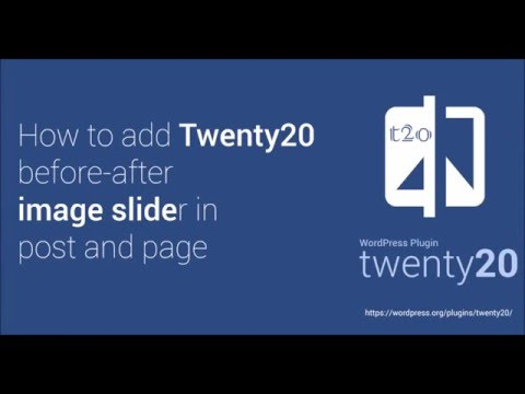 How to: Twenty20 WordPress Plugin