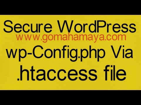 Secure Your WordPress wp-Config.php Via .htaccess