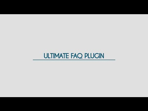 Ultimate FAQ Plugin for WordPress