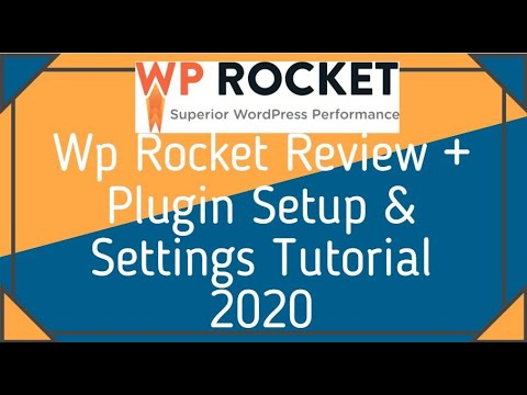 Wp Rocket Review + Plugin Setup And Settings Tutorial 2020