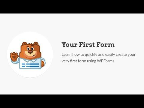 How to Create Your First Form
