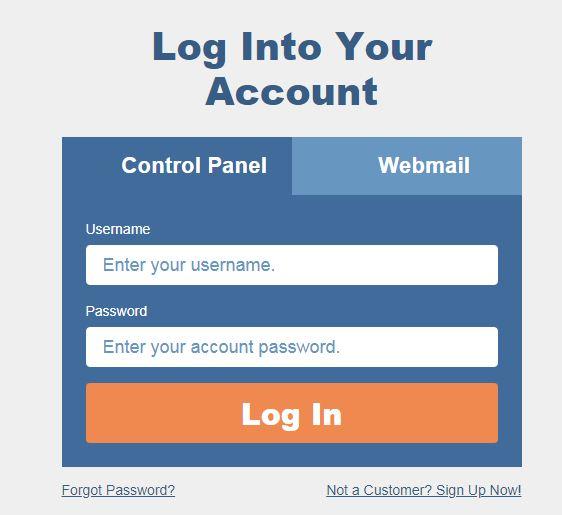 cpanel login page