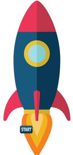 Animated rocket