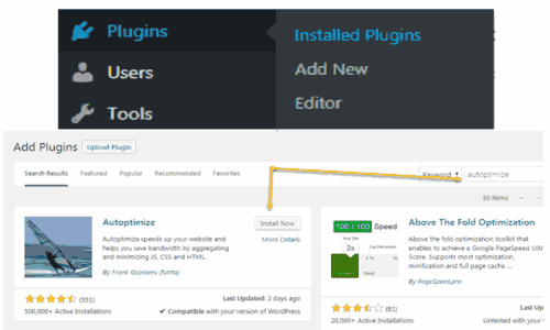 Autoptimize Plugin Setting WordPress Optimization 100/100 gtmetrix