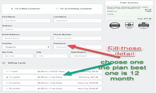 Billing detail in fastcomet hosting