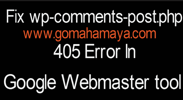 solved wp comments post php 405 error in google webmaster tool