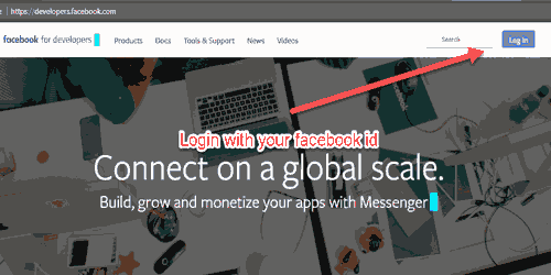 login with facebook developer account