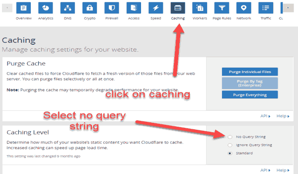 remove query strings from static resources cloudflare