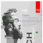Gif Animated Glitch - Photoshop Templates