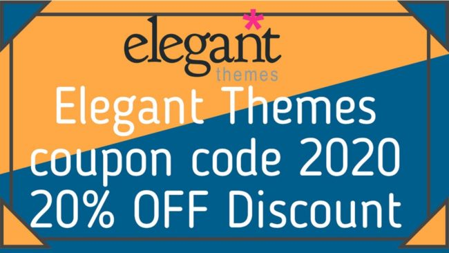 Elegant Themes coupon code 2020 OFF Discount