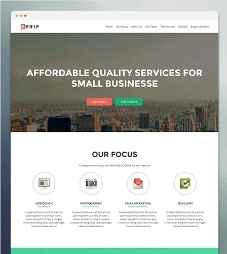 Zerif Lite WordPress Theme Tutorial 2018 - Gomahamaya
