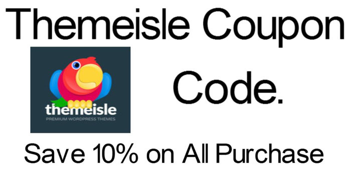 themeisle coupon code save 10% off on all purchase
