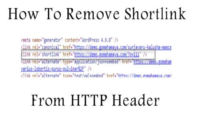 How To Remove Shortlink FromHTTP Header WordPress
