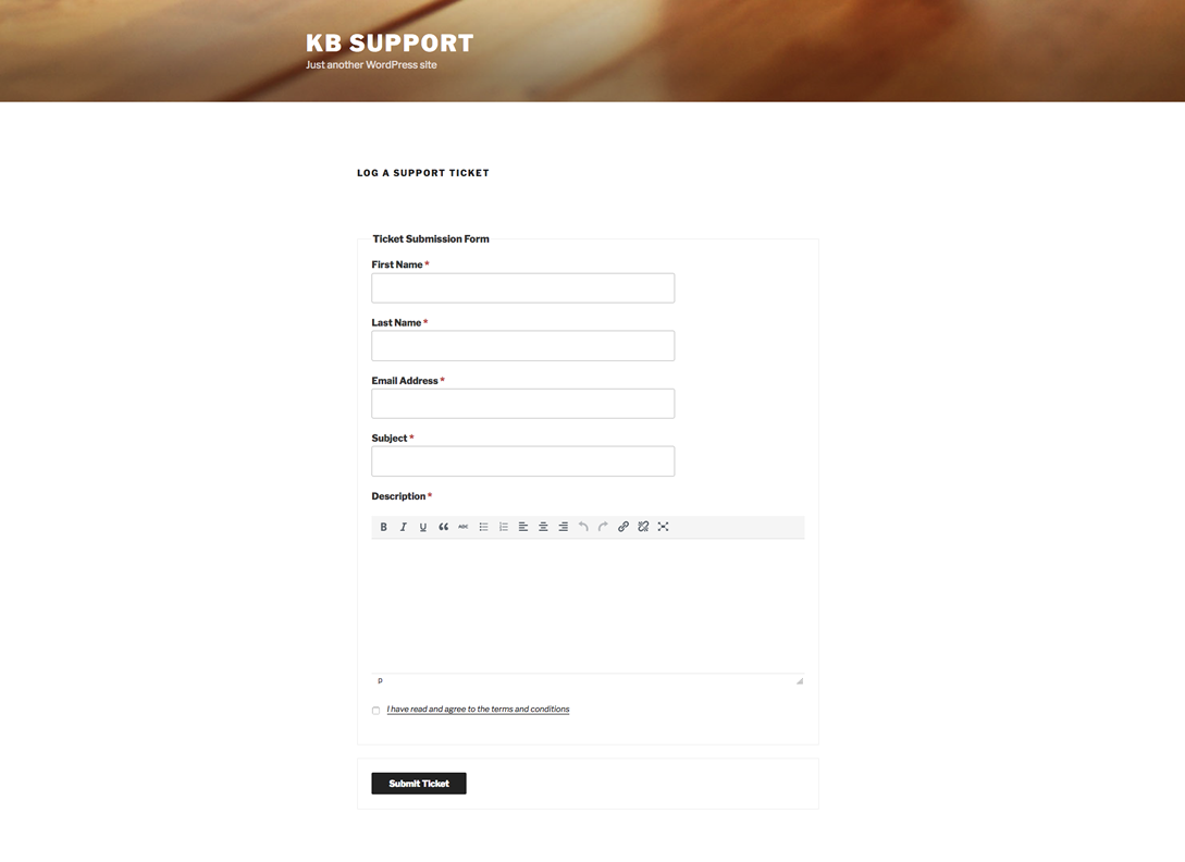 KB support_Ticket Plugin_Screenshot