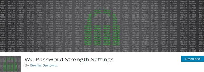 WC Password Strength Settings plugin