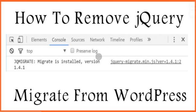 How To Remove jQuery Migrate From WordPress
