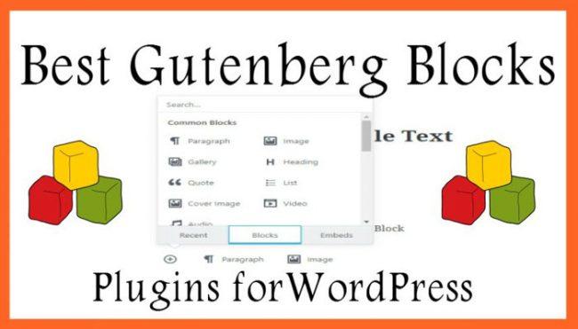 Best Gutenberg Blocks Plugins forWordPress