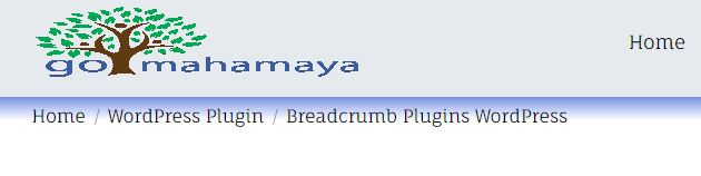 Breadcrumbs path in WordPress