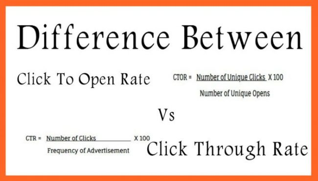Difference Between Click To Open Rate Vs Click Through Rate