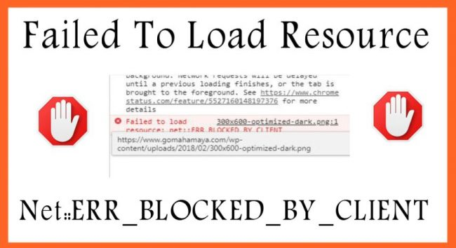 Failed To Load Resource: Net::ERR_BLOCKED_BY_CLIENT