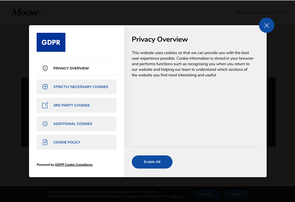 GDPR Cookie Compliance privacy overview