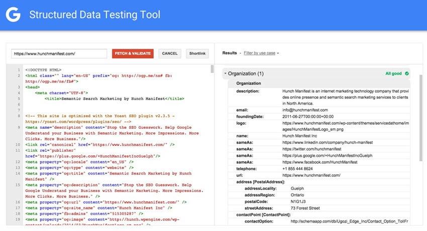 schema strcuture data testing tool