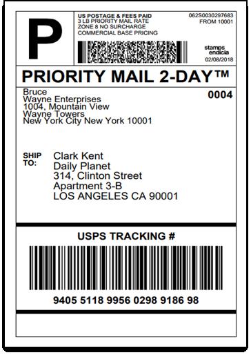 WooCommerce USPS Domestic Shipping Label