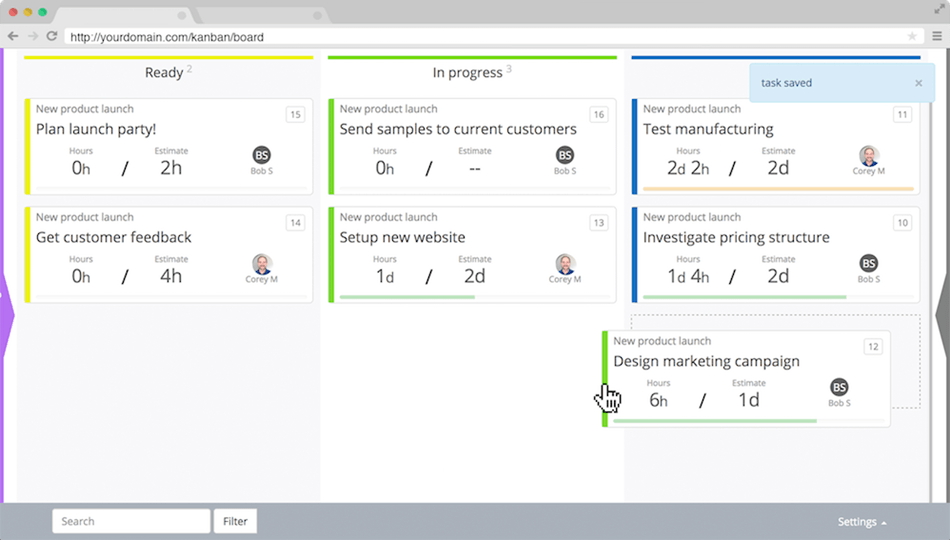 An Example Of The Kanban Dashboard