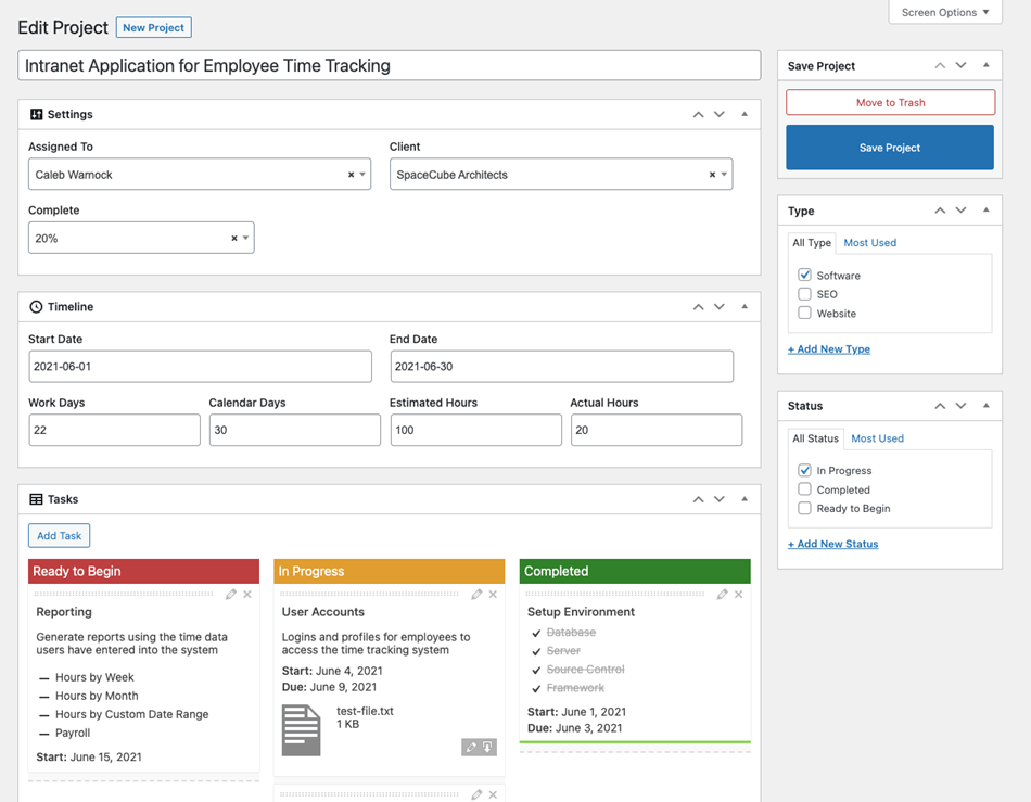 Application For Employee Time Tracking