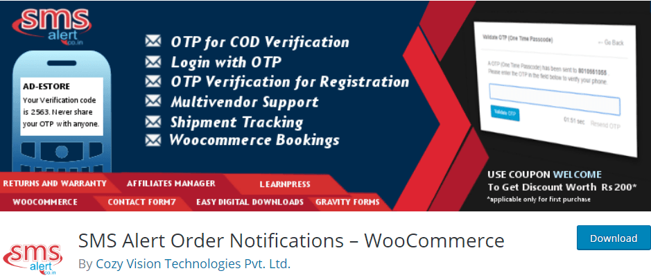 SMS Alert Order Notifications – WooCommerce