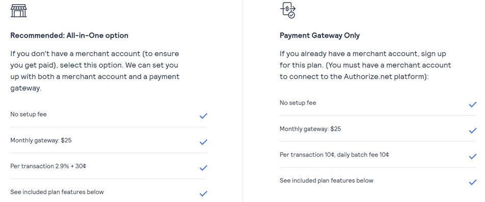 Authorize Net Pricing & Plan