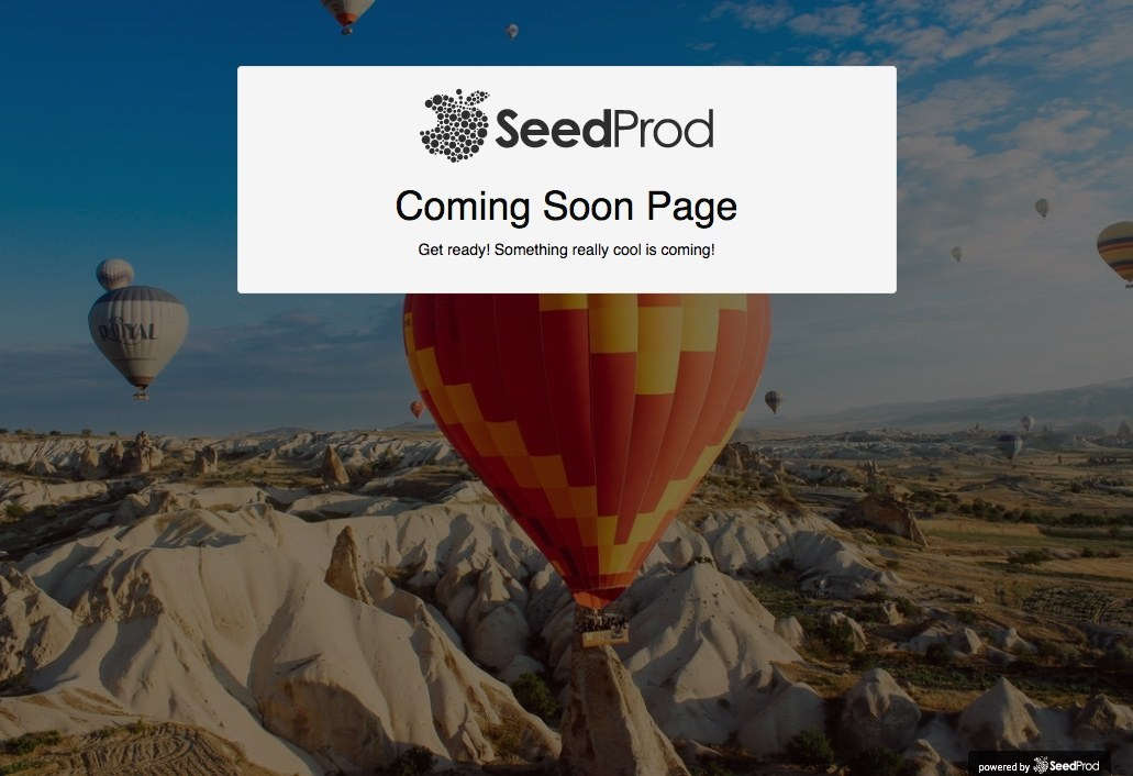 seedprod Coming Soon Page lite