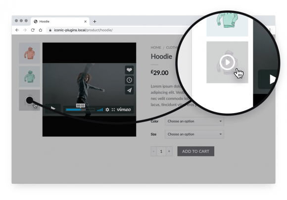 woocommerce embed video gallery