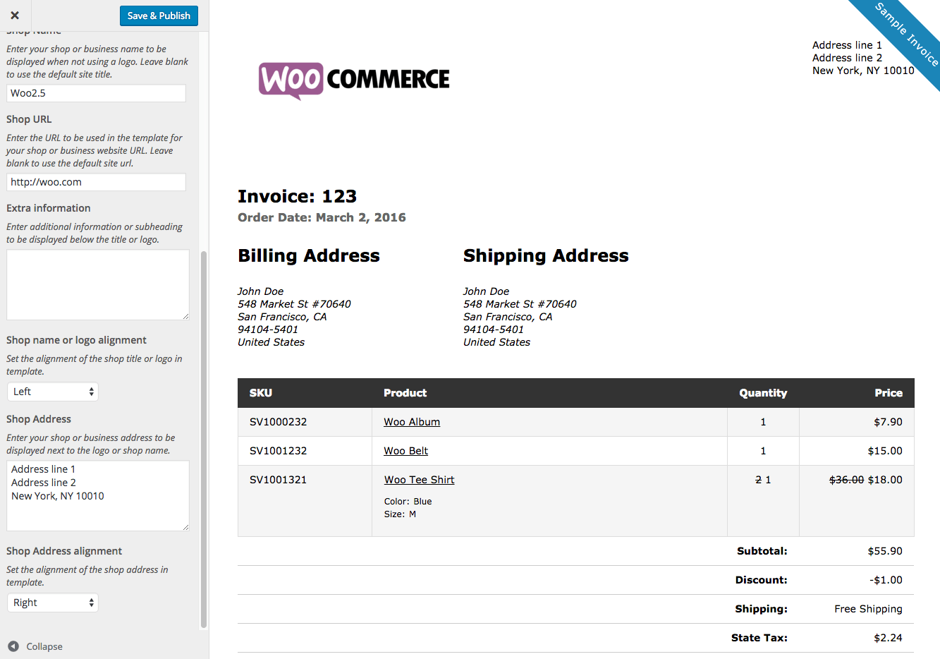 woocommerce print invoices packing lists customize invoice