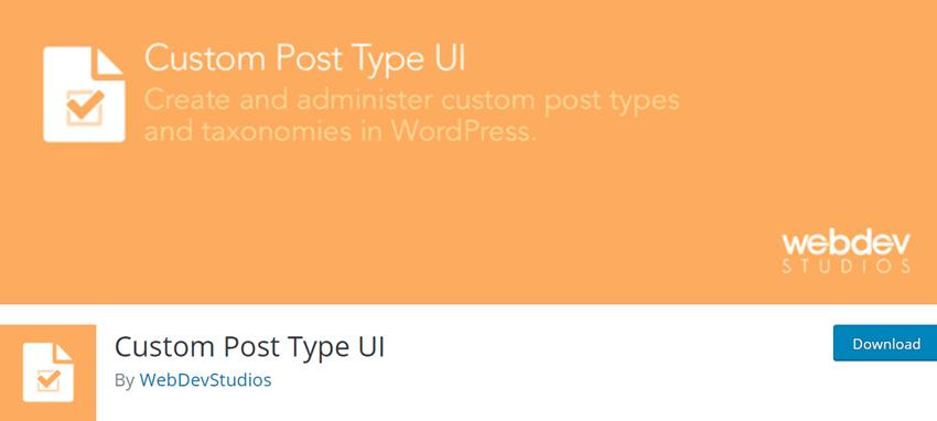 Custom Post Type UI