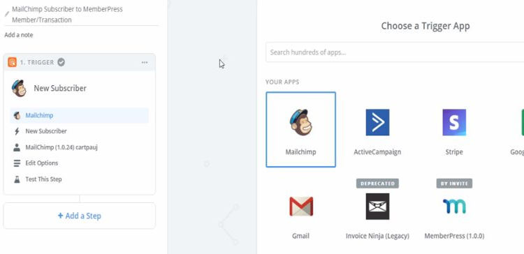 Mail chimp with memberpress