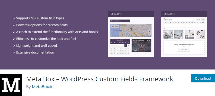 Meta Box – WordPress Custom Fields Framework