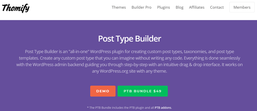 Themify - Post Type Builder