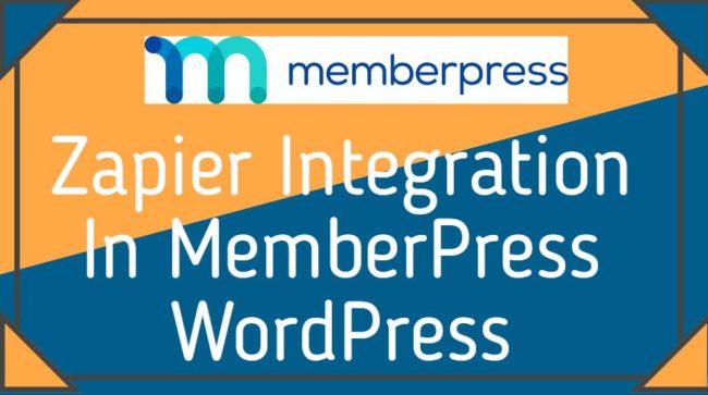 Zapier Integration In MemberPress WordPress