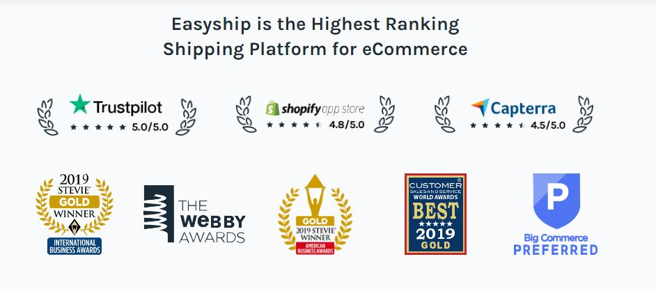 Easyship is the Highest Ranking Shipping Platform for eCommerce