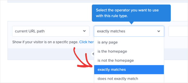 Change curren url to exactly matches