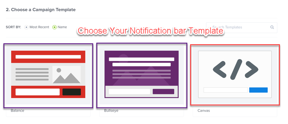 Choose Your Notification bar Template