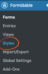 Formidable Form Styler