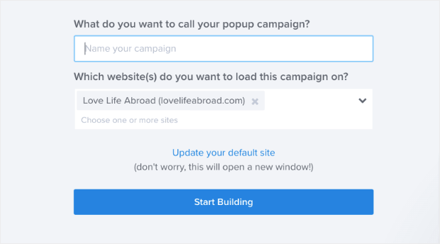 Name and connect your website form