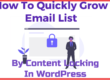 How To Quickly Grow Email List By Content Locking In WordPress